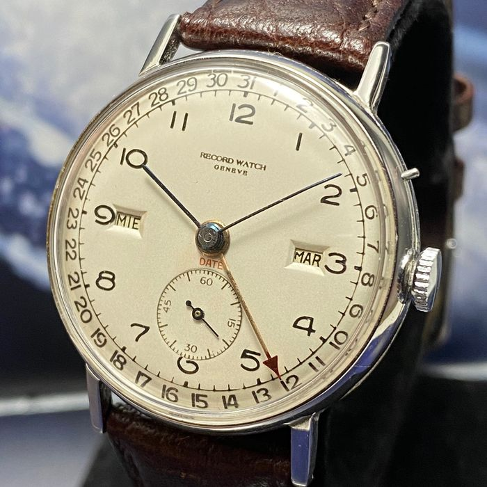 "Record - Vintage Date Triple Date - 11254 2 - ""NO RESERVE PRICE""  - Heren - 1901-1949"