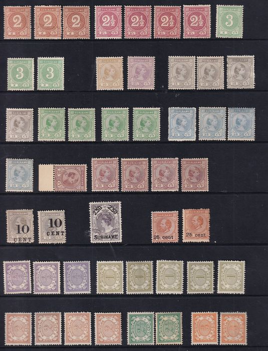 Suriname 1890/1909 - Loose stamps from the period 1890-1909 - NVPH