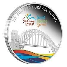 Australië - 1 Dollar 2009 Celebrate Sydney 2009 World Masters Games - 1 Oz - Zilver