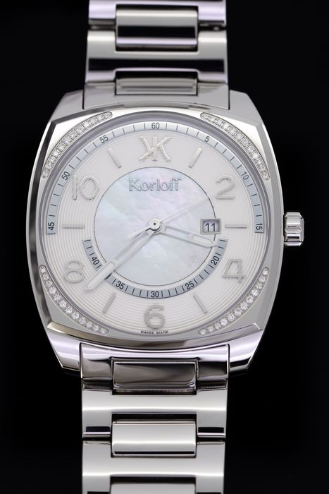 Korloff - Diamonds for 0.31 Carat  White Mother of Pearl Dial Special Collection Swiss Made - CHRWD - Herren - BRAND NEW