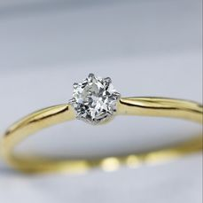 18 kt Gelbgold - Ring - 0.20 ct Diamant