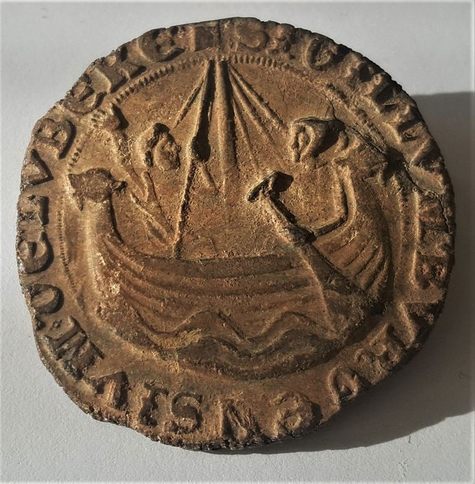Medieval Lead Great Seal Of The Hanseatic City Of Lubeck Catawiki