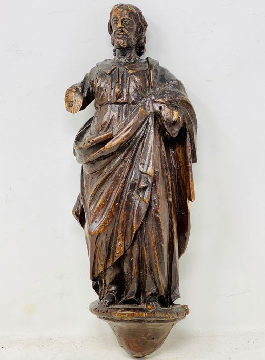 Saint Philip the Apostle figure - Neoclassical - Wood - Late 18th century