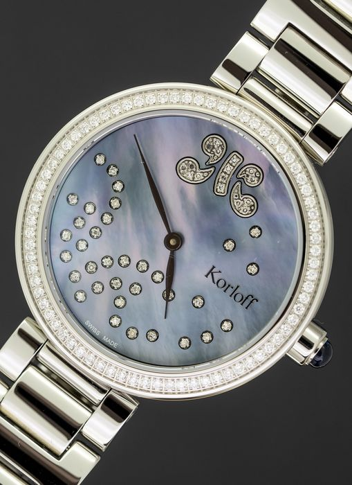 Korloff - Diamonds for 0.91 Carat Mother of Pearl Royal Blue Cabochon Sapphire Gossip Collection Swiss Made - CDKB2D - Dames - BRAND NEW