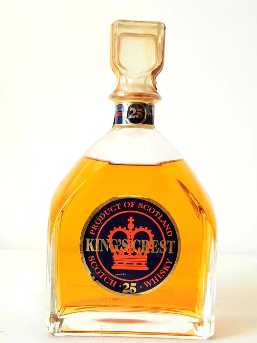 King's Crest 25 years old - b. Jaren 1990 - 750ml