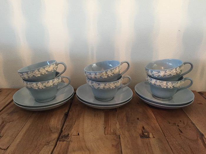 Wedgwood - cups with saucers (6) - Porselein