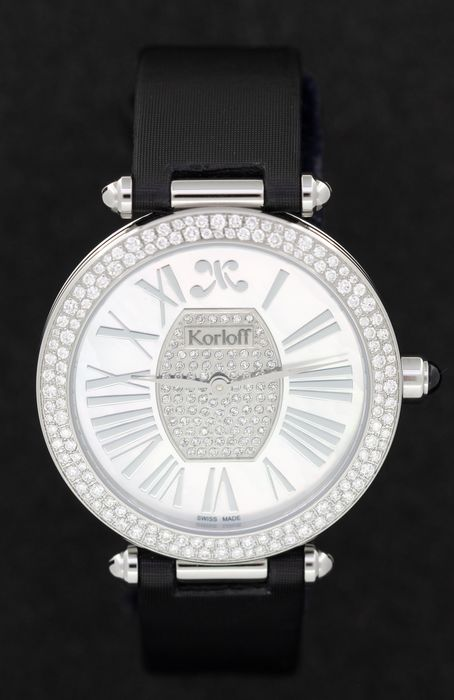 Korloff - Diamonds for 1.54 Carat Limited Edition Mother of Pearl Blue Sapphire Gossip Collection Swiss Made - CDRWD2DS - Mujer - BRAND NEW