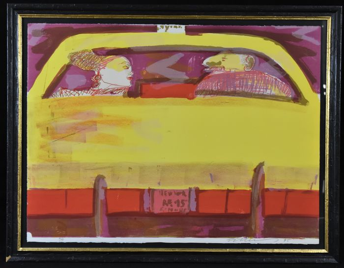 Rainer Fetting - Taxi blind date II (rood geel)
