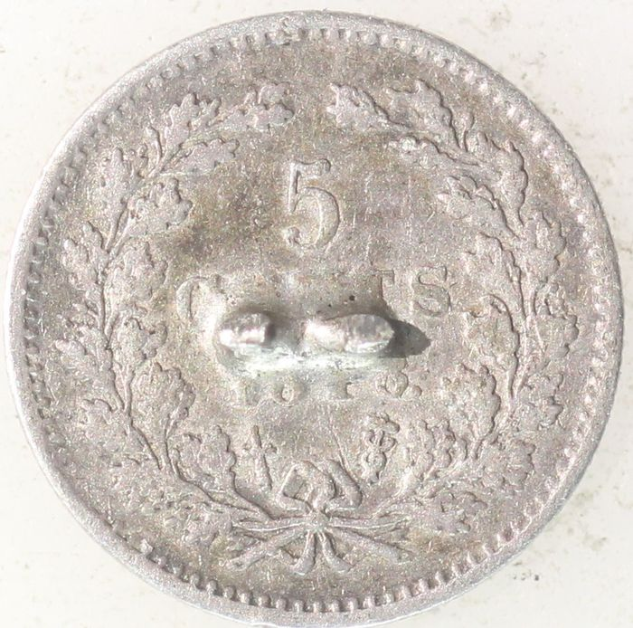 The Netherlands - 5 Cent 1848a Willem II - Silver