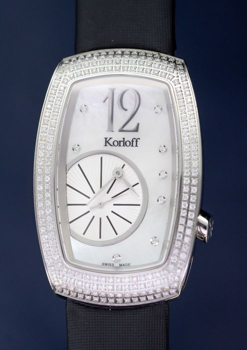 Korloff - Diamonds for 1.12 Carat Limited Edition Tonneau Ronde Collection White Mother of Pearl Swiss Made - T30/739 - Mujer - BRAND NEW