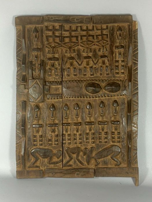 200338 - Large Old African Grany Door - Wood - Tribal Used African - Dogon - Mali