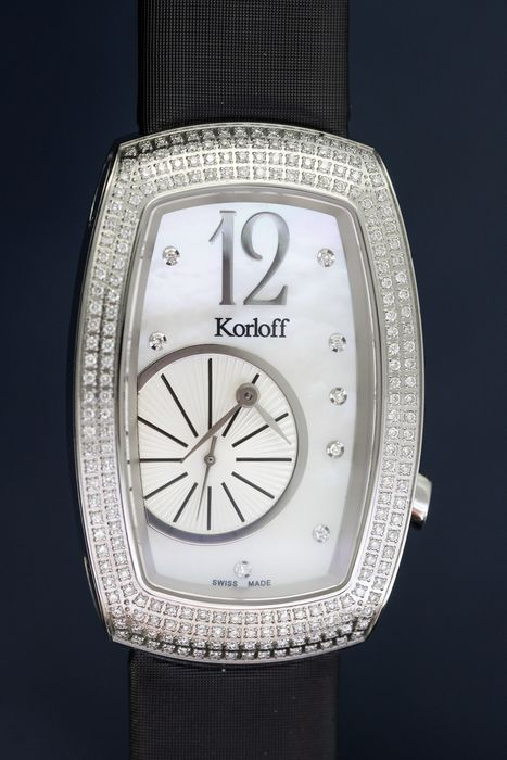 Korloff - Diamonds for 1.12 Carat Limited Edition Tonneau Ronde Collection White Mother of Pearl Swiss Made - T30/739 - Donna - BRAND NEW