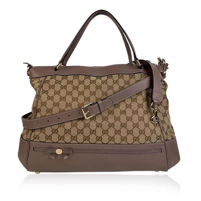 Gucci - Monogram Canvas Large Mayfair with Strap Tote bag