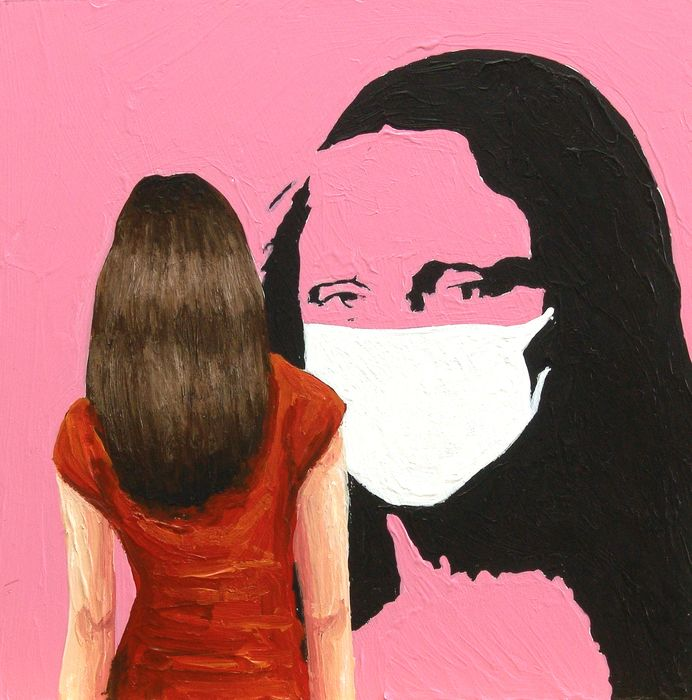 Gerard Boersma - Mona Lisa With Mask (Corona Lisa)