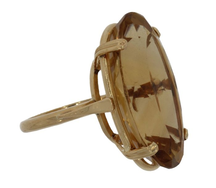 14 kt. Yellow gold - Ring Citrine