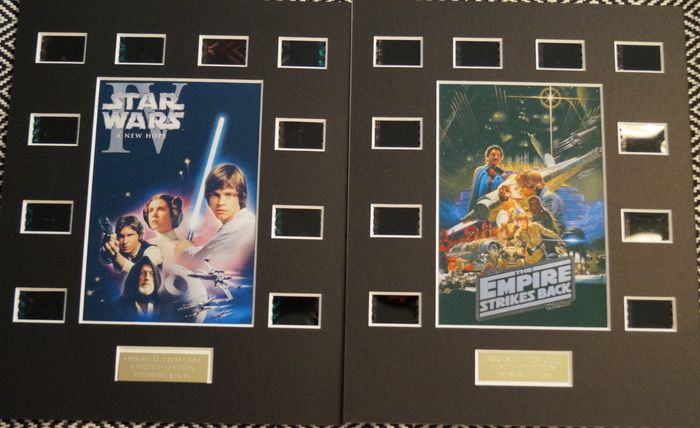 Star Wars - Lot of 2 - A New Hope & The Empire Strikes Back  -  Film Cell Displays