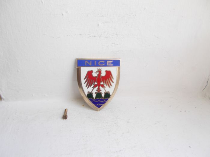 Badge - French Nice enamel on brass with fixing by DRAGO