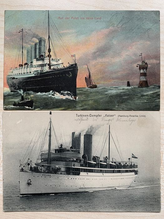 Military, Ships, World War 1 - Postcards (Collection of 137) - 1905