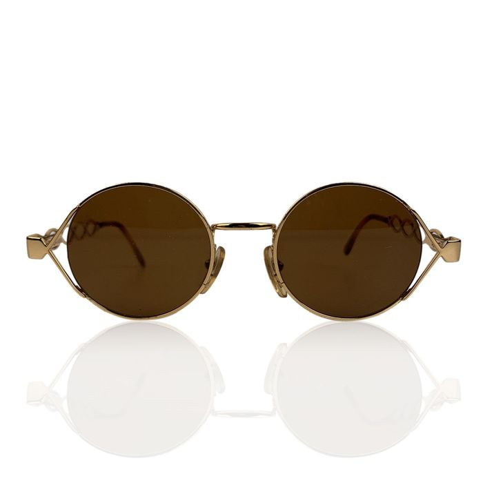 Persol - Moschino by Persol Vintage Gold Round Unisex Mint Mod MM264 Sunglasses