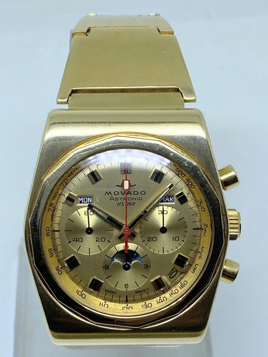 Movado - Astronic HS 360 - 18 Kt Yellow Gold - Men - 1970-1979