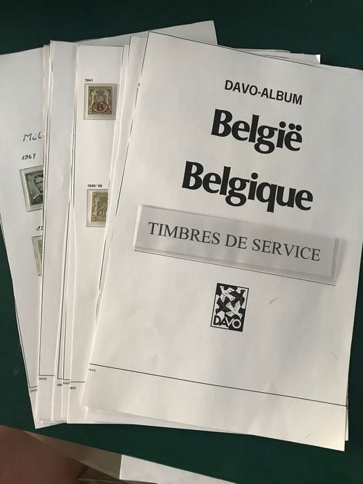 Belgique - Over-complete collection of official stamps with all nuances and paper types - OBP / COB TX1/86