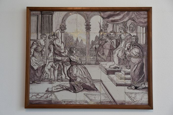 Preview of the first image of Rare tile tableau Salomonsdeel, Rotterdam - Earthenware.