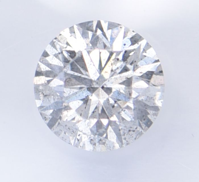 1 pcs Diamant - 0.60 ct - Brillant, Rund - G - I1     ** No Reserve Price **