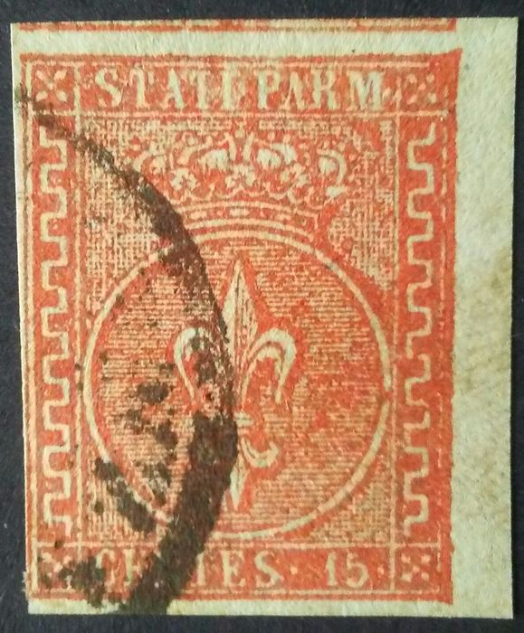 Italian Ancient States - Parma 1853 - 15 cent. red - Sassone N. 7