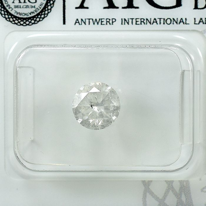 Diamond - 1.01 ct - Brilliant - G - I2 - NO RESERVE PRICE