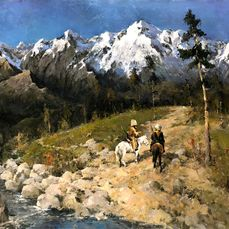 Alexander Kremer (1958-) - In the Mountains - exceptional large size
