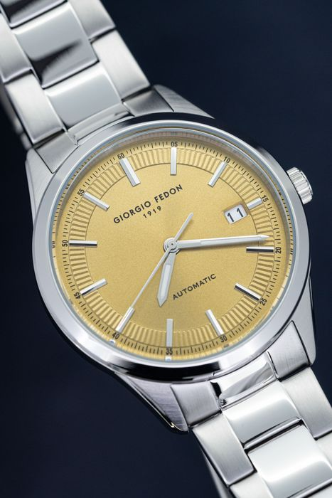 """Giorgio Fedon 1919 - Automatic PCA Champagne Dial Stainless Steel strap - GFCA008 """" NO RESERVE PRICE"""" - Unisex - Brand New"""