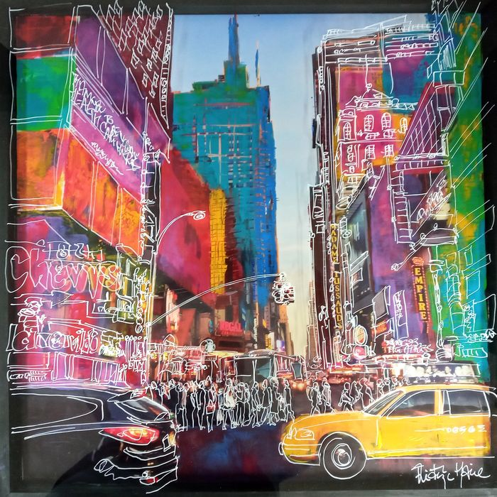Frederic Haire - Yellow taxi in New York