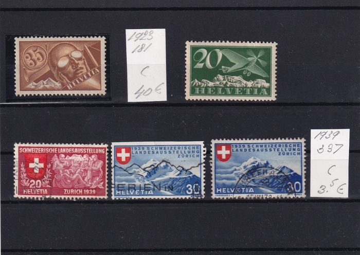 Suisse 1862/1974 - Collection starting with classics - Michel