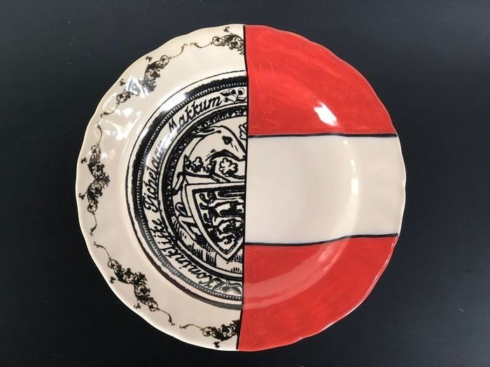 Marcel Wanders - Tichelaar Makkum - Teller (1) - Patchwork Plate; out of production;  the only one we can offer