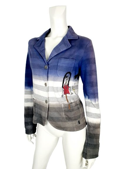 John Galliano - jacket with beautiful embroidered applications - Size: M