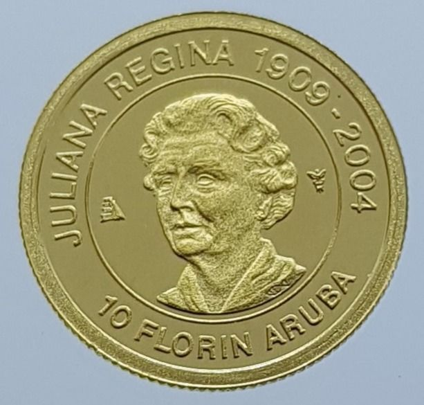 Aruba - 10 Florin 2005 Juliana Regina - 1/25 Oz - Gold