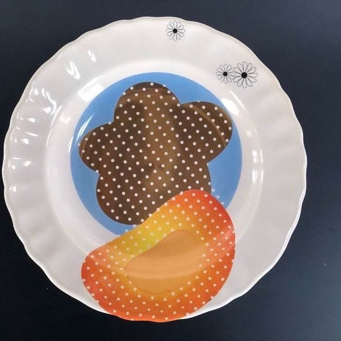 Marcel Wanders - Tichelaar Makkum - Teller (1) - Patchwork Plates, Little sun; out of production; the only one we can offer