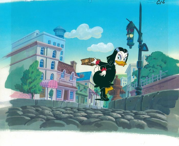 DuckTales - Production cel + Copy Background + Production drawing - Magica De Spell - (1990's)