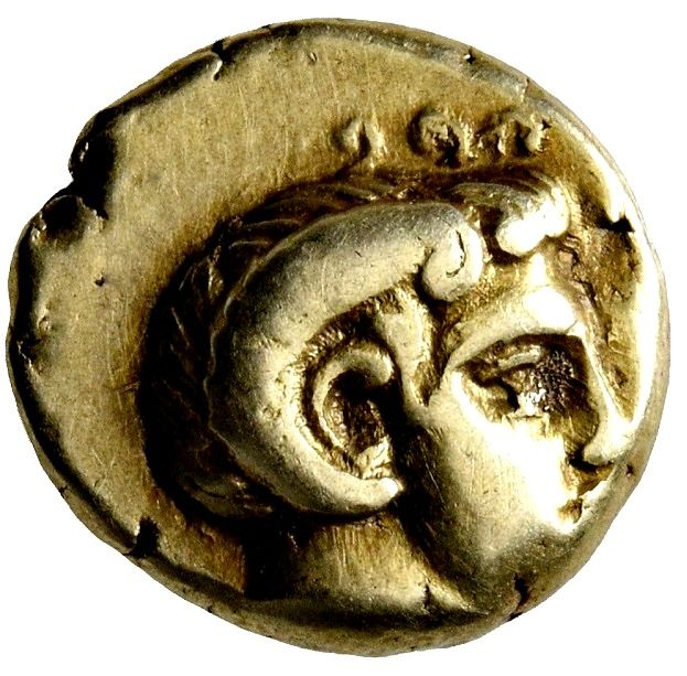 Grèce (ancienne) - Lesbos, Mytilene. EL Hekte – Sixth Stater. Larger Flan! circa 454-428/7 BC - Or