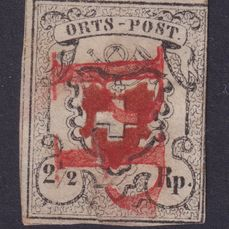 Zwitserland 1850 - Local-Post with framed cross rare Lucerne P.P. - Zumstein 13I
