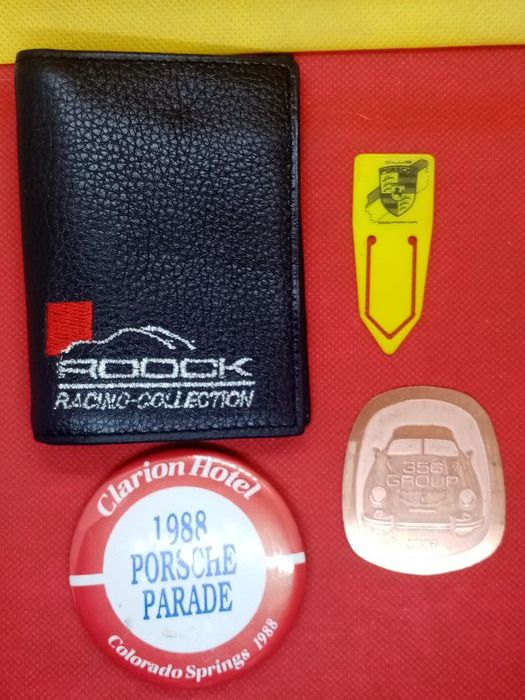 Onderdelen - Job Lot Porsche Teile 356 901 911 912 purse wallet Badge Plakette emblem - Porsche