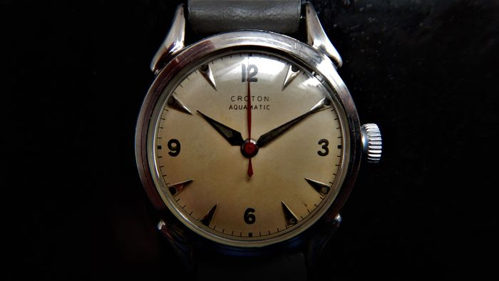 "Croton Nivada Grenchen - US Military Dress Watch - AQS 125449 - Hombre - Circa 1950 - The Korean or ""Forgotten"" War"