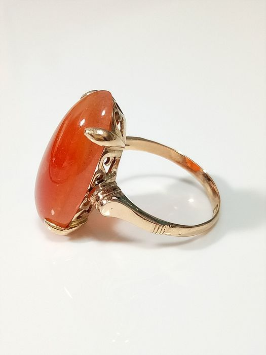 18 kt. agate - Ring