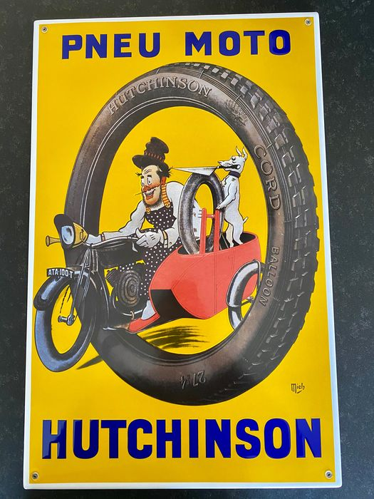 Emaille bord - Hutchinson emaille bord reclame - Hutchinson