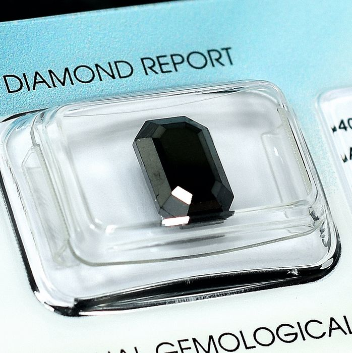 Diamante - 4.43 ct - Esmeralda - Black - N/A