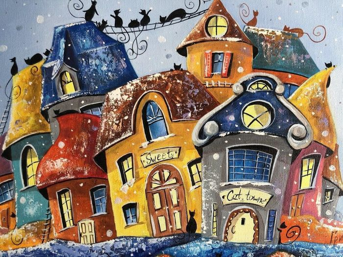 Grinchenko Nataly - Holidays in cats town