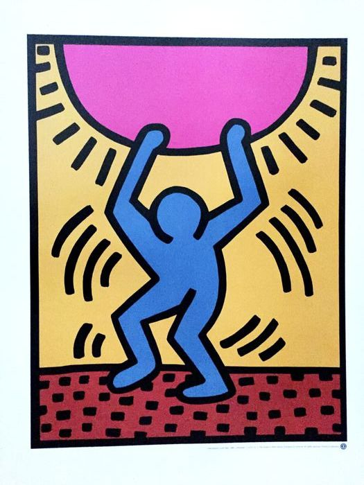 Keith Haring - Poster - after: International Youth Year