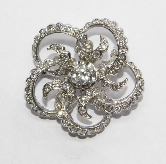 18 karaat Goud - Broche - 0.50 ct Diamant - Diamanten