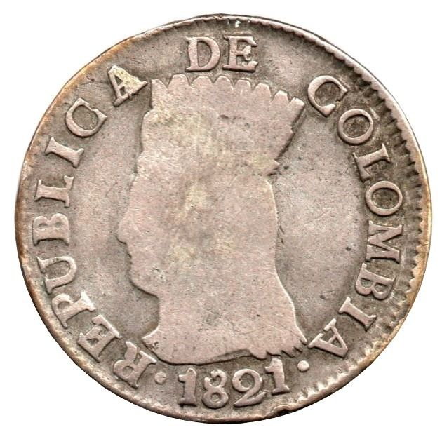 Colombie - 2 Reales 1821-BA JF  - Argent