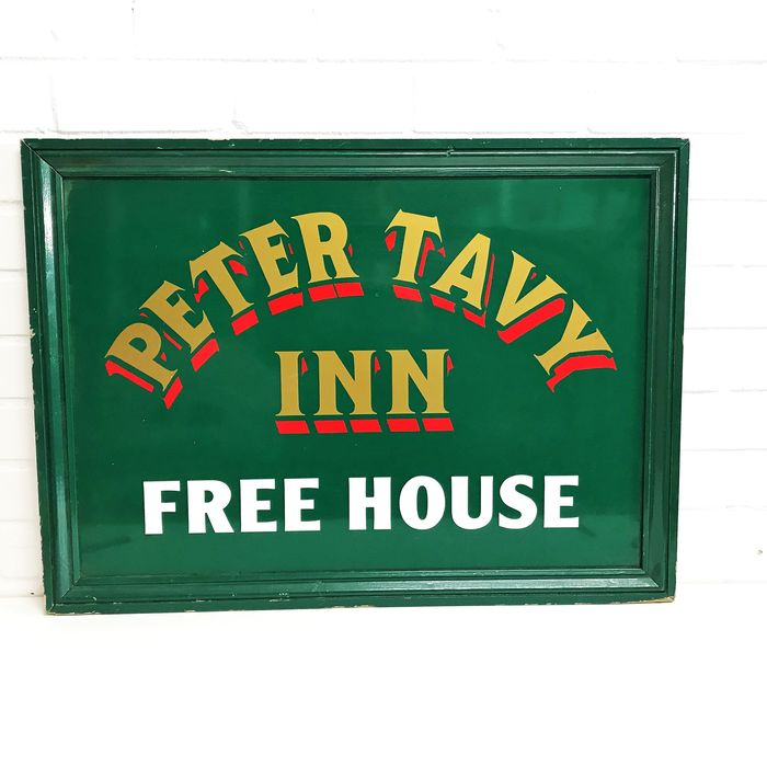 Peter Tavy Inn Freehouse Schild. - Holz, Plastik